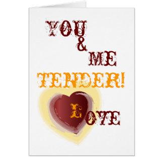 Tender Love-Customize Greeting Card