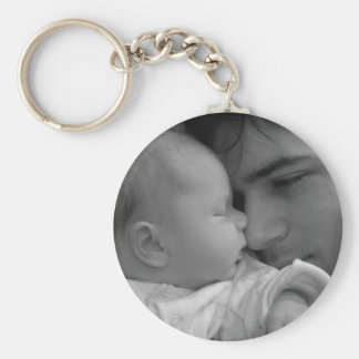 Tender Moment Basic Round Button Key Ring