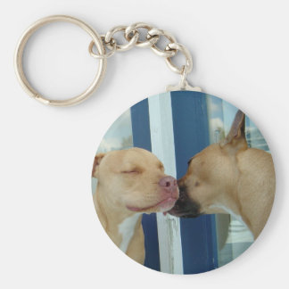 Tender moments basic round button key ring