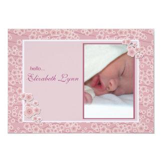 Tender Photo Birth Announcement