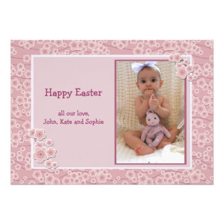 Tender Photo Easter Card Custom Announcement