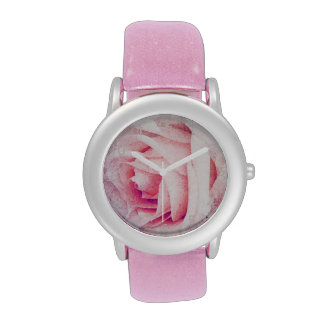 tender rose pink petals wrist watches