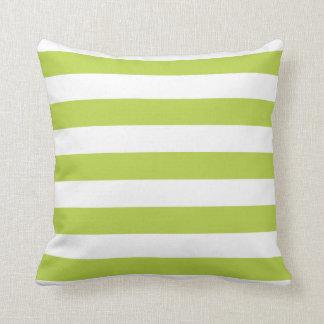 Tender Shoots Green Bold Striped Pillow
