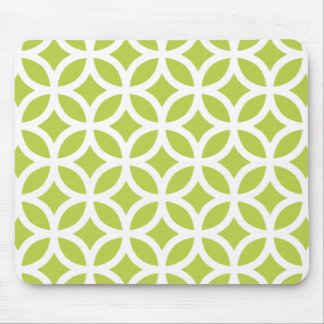 Tender Shoots Green Geometric Mouse Pad