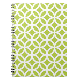Tender Shoots Green Geometric Notepad Notebooks