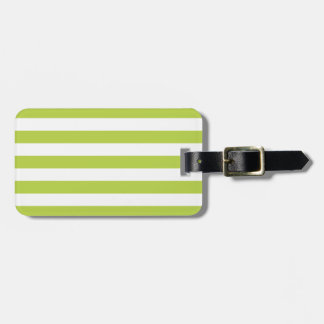 Tender Shoots Green Stripes Pattern Luggage Tag