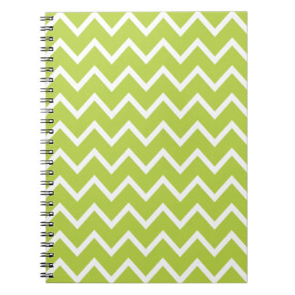 Tender Shoots Green Zig Zag Chevron Spiral Notebook
