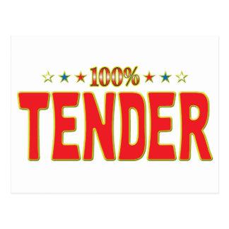 Tender Star Tag Postcard