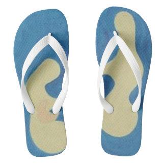 Tenderness Design Flip Flops White Strap & Under Thongs