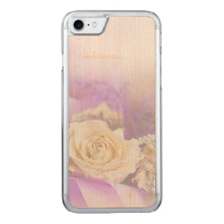 Tenderness of Tea-Rose for iPhone 6/6s Slim Maple Carved iPhone 7 Case