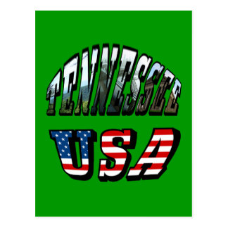 Tennessee and USA Picture Text Postcards