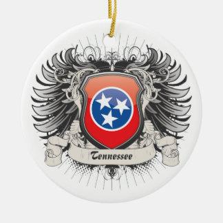 Tennessee Crest Round Ceramic Decoration