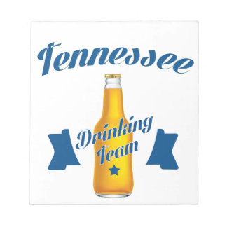 Tennessee Drinking team Notepad