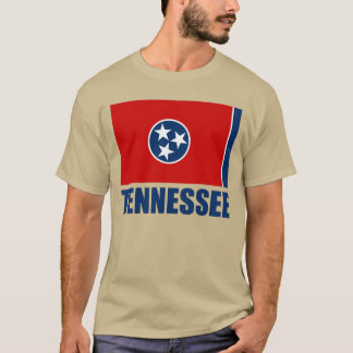 Tennessee Flag Blue Text T-Shirt