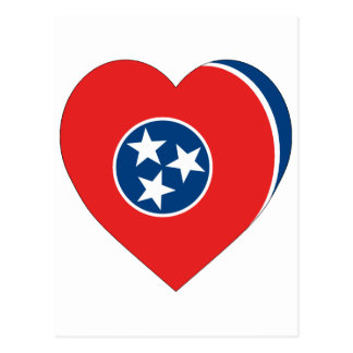 Tennessee Flag Heart Post Cards