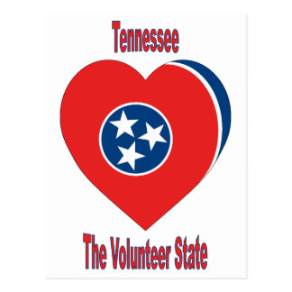 Tennessee Flag Heart Postcard