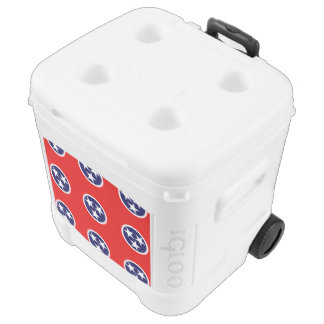TENNESSEE FLAG IGLOO ROLLER COOLER