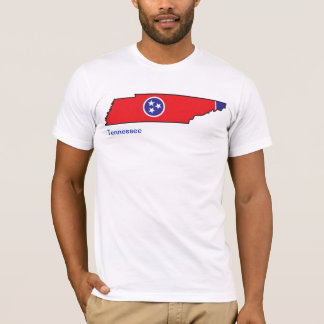 Tennessee Flag Map T-Shirt