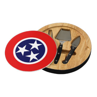 TENNESSEE FLAG ROUND CHEESEBOARD