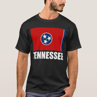 Tennessee Flag White Text T-Shirt