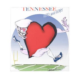 tennessee head heart, tony fernandes notepad