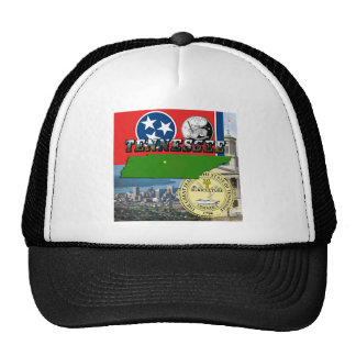 Tennessee Map, Flag, State Seal and Pictures Cap