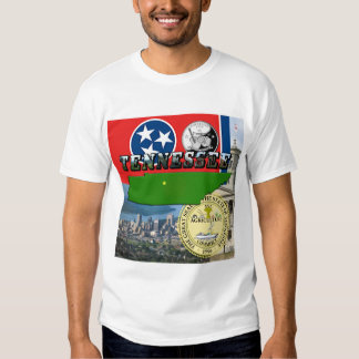 Tennessee Map, Flag, State Seal and Pictures Tshirt