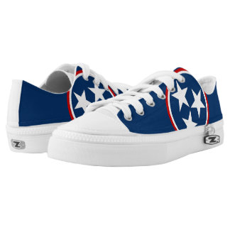 Tennessee Stars State Flag Blue Printed Shoes
