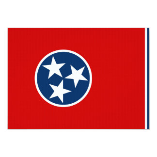 Tennessee State Flag 13 Cm X 18 Cm Invitation Card