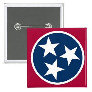 Tennessee State Flag 15 Cm Square Badge