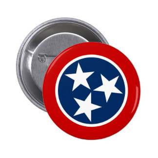Tennessee State Flag 6 Cm Round Badge