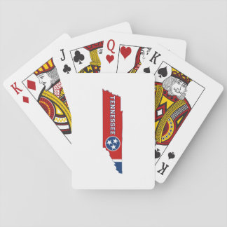 Tennessee State Flag and Map Poker Deck