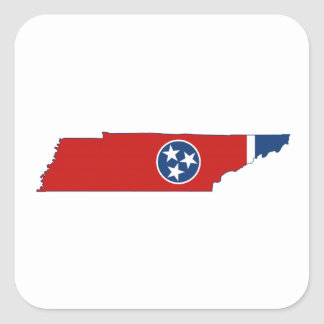 Tennessee State Flag and Map Sticker
