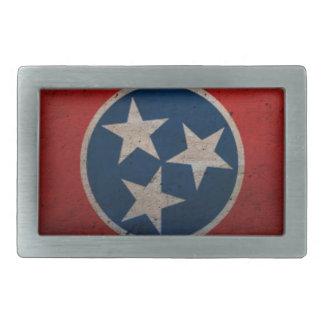 Tennessee State Flag Rectangular Belt Buckles