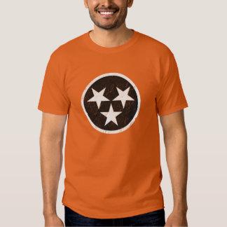 Tennessee State Flag Black & White Grunge Shirts