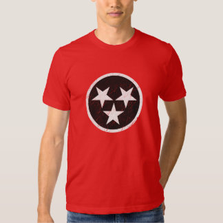 Tennessee State Flag Black & White Grunge T Shirts