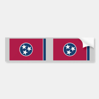 Tennessee State Flag Car Bumper Sticker