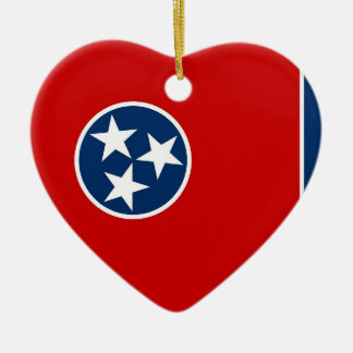 Tennessee State Flag Ceramic Heart Decoration