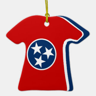 Tennessee State Flag Christmas Tree Ornament