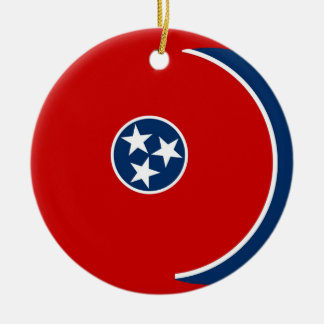 Tennessee State Flag Round Ceramic Decoration