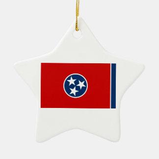 Tennessee State Flag Ceramic Star Decoration