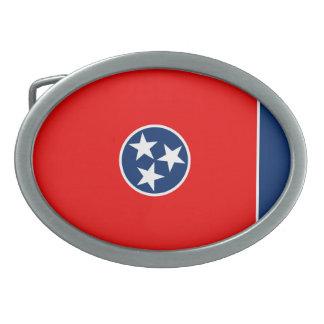 Tennessee State Flag Design Oval Belt Buckle