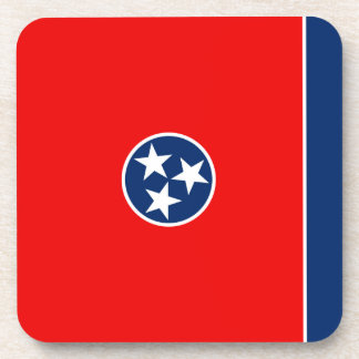 Tennessee State Flag Design Beverage Coasters