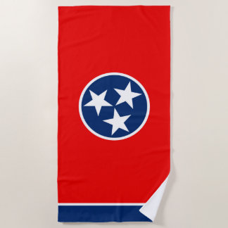 Tennessee State Flag Design on a Beach Towel