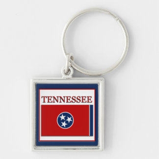 Tennessee State Flag Design Premium Keychain