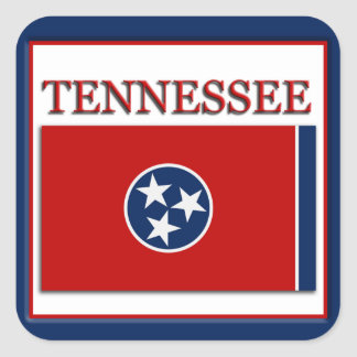 Tennessee State Flag Design Sticker