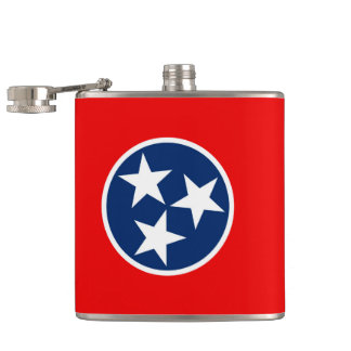 Tennessee State Flag Design Hip Flask
