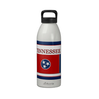 Tennessee State Flag Design Water Bottle