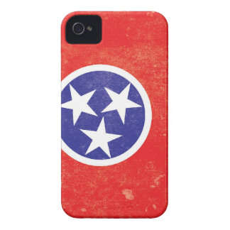 Tennessee State Flag Distressed iPhone 4 Cases