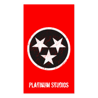 Tennessee State Flag Grunge Music Studio Pack Of Standard Business Cards